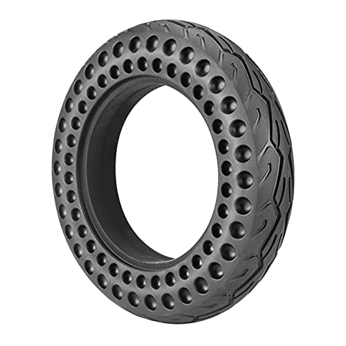 Neumáticos para Scooter Eléctrico, 10 Pulgadas 10 X 2 Neumáticos Sólidos A Prueba De Explosiones, Absorción De Impactos En Forma De Panal, Antideslizante Y Resistente A Las Perforaciones