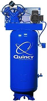 Quincy QT-54 Splash Lubricated Reciprocating Air Compressor - 5 HP, 230 Volt, 1 Phase, 60-Gallon Vertical, Model Number 2V41C60VC: image