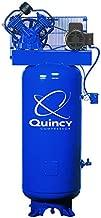Quincy QT-54 Splash Lubricated Reciprocating Air Compressor - 5 HP, 230 Volt, 1 Phase, 60-Gallon Vertical, Model Number 2V41C60VC