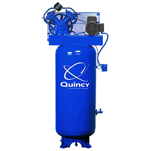 Quincy QT-54 Splash Lubricated Reciprocating Air Compressor - 5 HP, 230 Volt, 1 Phase, 60-Gallon Vertical, Model Number 2V41C60VC