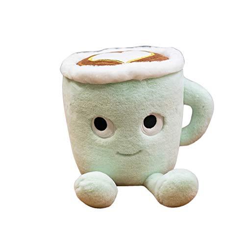 MMLC Süße Kaffeetasse Form Plushie Gefüllte Spielzeug Geschenke für Kinder, Plushie Dekokissen Puppe Weiche Gefüllte Dekokissen Spielzeug für Zuhause Schlafsofa Auto Büro Dekoration