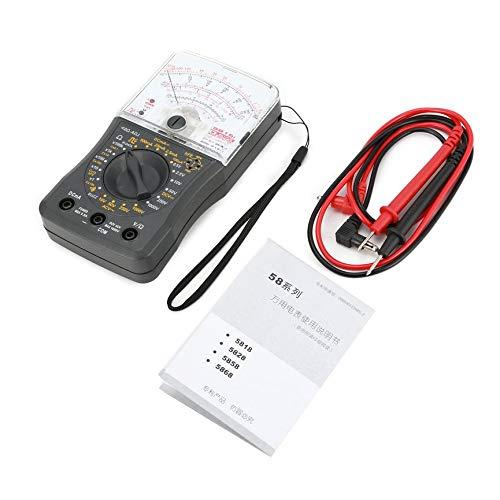 Peanutaor Mini Portátil Multímetro Analógico Voltímetro AC/DC Amperímetro Resistencia Continuidad Capacidad Fusible & Diodos Medidor