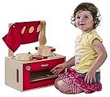 RMS Kids Toy Spielküche aus Holz inkl. Box Topf Pfanne Geschirr