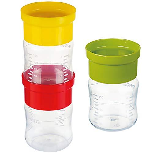 TOYANDONA Botellas de Almacenamiento de Leche Materna de 3 Piezas Botellas de Recolección de Leche Materna Apilables Botellas Reutilizables de Cuello Ancho para La Recolección de Leche