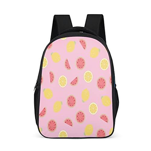 Hinfunees Zaino anguria, motivo limone, borsa per libri alla moda, zaino scolastico per adolescenti, Daypacks, Grigio acceso., Taglia unica