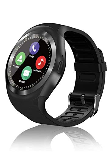 Smartwatch Bluetooth Smart Watch Orologio Intelligente con SIM Card Slot Schermo Touch Telecamera Sport Fitness Tracker per Android Samsung Huawei Honor LG Xiaomi iPhone Uomo Donna Bambini (Nero)