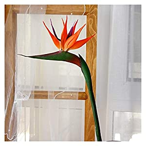 Osdfrlk Artificial Flowers 80CM Artificial Real Touch Flower Bird of Paradise Strelitzia Floor Fake Flower Room Wedding Party Decor (Color : Orange)