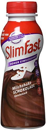 SlimFast Fertigdrink Schokolade I Fertiggetränk mit hohem Eiweißanteil & reduzierten Kalorien I Gebrauchsfertige Schoko Trinkmahlzeit für eine gewichtskontrollierende Ernährung I 1 x 325 ml