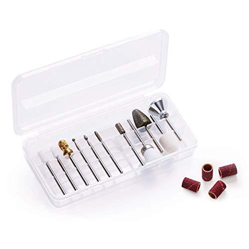 Promed Comfort Schleifkörper-Set, 13 Schleifkörper für die Naturnagelbearbeitung, Bitset, Nagelfräser Aufsätze, Zubehör für Promed Fräser, Schaftdurchmesser 2,332 bis 2,350 mm.