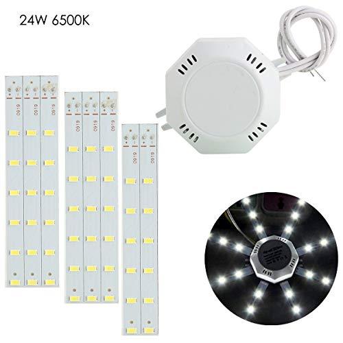 XingYue Direct 1PC 5730SMD LED Celling Lámpara 12W / 16W / 20W / 24W Luz Brillante Pulpo Blanco Brillante (Color : Cold White, Wattage : 24W)