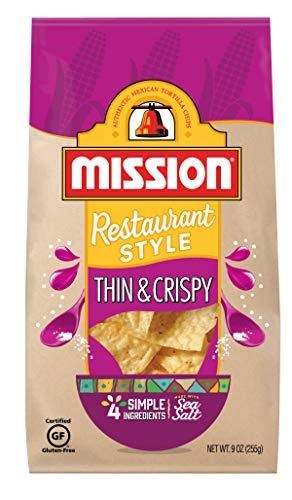 Mission Thin & Crispy Tortilla Chips   Gluten Free   Restaurant Style Corn Tortilla Chips   9 oz