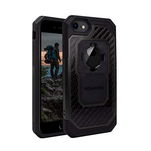 Rokform 533101P - Custodia protettiva in alluminio e fibra di carbonio con chiusura a torsione per iPhone 8/7/6/6s, colore: Nero