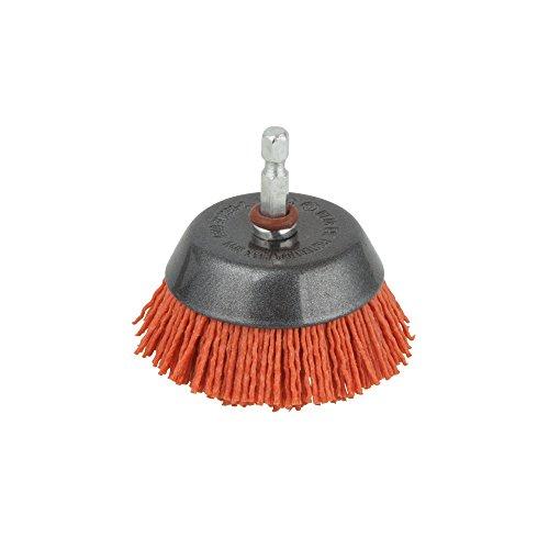 wolfcraft 1506000 Nylondraht-Topfbürste I zum Reinigen, Entrosten und Polieren I vielfache Lebensdauer gegenüber Drahtbürsten
