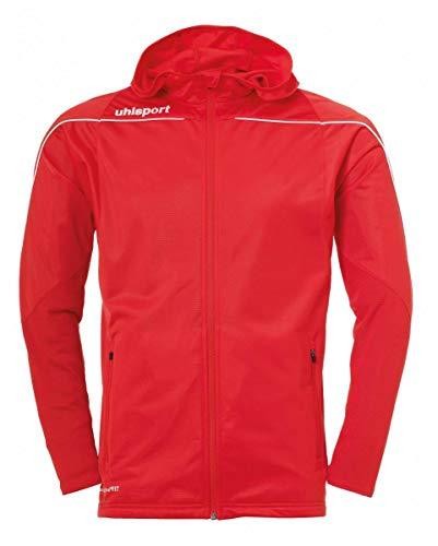 uhlsport Stream 22 Veste à capuche pour enfant, Mixte enfant, Jacket, 100518904, rouge/blanc, 116 cm