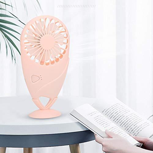 Moolo Mini Mini Mini Portátil Ventilador Eléctrico De Escritorio USB Recargable Ventilador De Refrigeración con Soporte Rosa