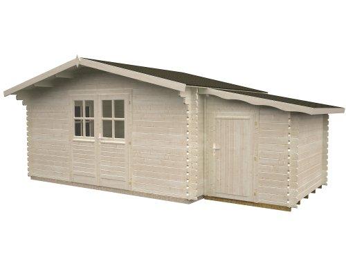 Gartenhaus Sandy 4.2 ca. 380 x 320 cm inkl. Anbauschuppen