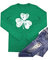 For G and PL Womens Long Sleeve St Patrick Day T Shirt Clover Green Irish Cotton Top Shamrock 2XL