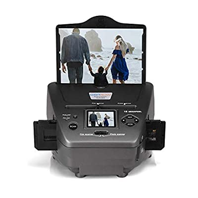 "DIGITNOW! All-in-One High Resolution 16MP Film Scanner, with 2.4"" LCD Screen Converts 35mm/135slides&Negatives Film Scanner Photo, Name Card, Slides and Negatives for Saving Films to Digital Files"