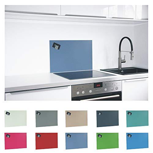 Paulus Spritzschutz Küche Herd Küchenrückwand magnetisch 60x40cm blau, RAL-5014 taubenblau