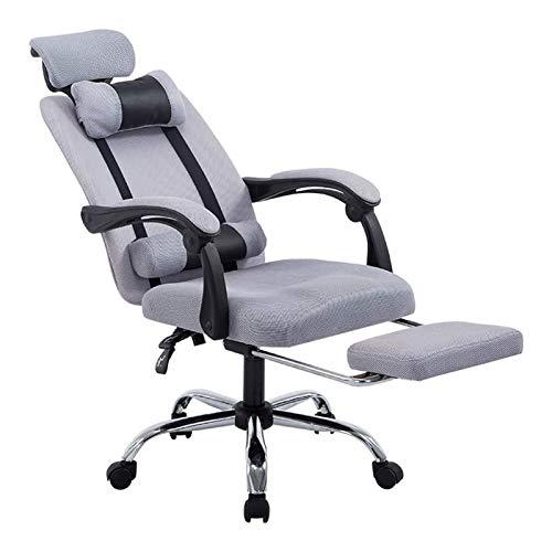 Bürostühle Ergonomisch Verstellbarer Bürostuhl mit Lordosenstütze und Rollerblade-Rädern - Hohe Rückenlehne mit atmungsaktiven, netzdicken Sitzkissen - Sitzhöhe - Liegen