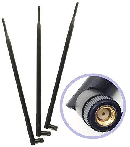 GP Electric 3 WiFi 9dBi Dual Band Omni Antena direccional 2.4Ghz / 5 GHz con RP-SMA Conector Macho para Dispositivos Router Wi-Fi inalámbricos y la Red