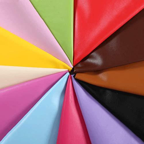 MAGFYLYDL Cuero Artificial PU Impermeable, 54 Pulgadas De Ancho, Utilizado para Telas como Automóviles, Sofás, Muebles, Arte En Cuero, Bricolaje, Etc.(Color:púrpura)