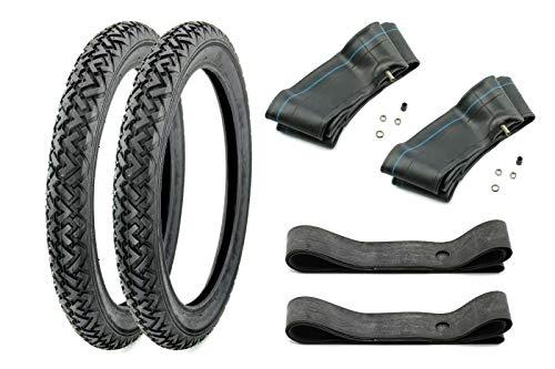 SET 2 Vee Rubber Reifen 2,25 x 16 Zoll, 2 1/4 x 16 Zoll, Profil VRM 087, 38J inklusive Schläuche und Felgenbänder