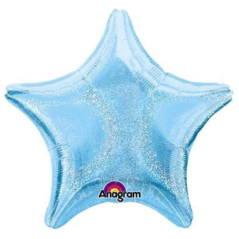 Anagram 17642 Star - Pastel Blue Dazzler Foil Balloon 19