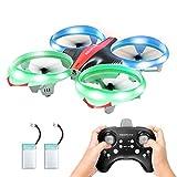 Redpawz Mini Drone pour Enfants, hélicoptère RC avec Maintien de l'altitude et Mode sans tête, Piles Doubles pour garçons Garçons Filles Adolescents Adultes et débutants
