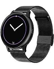 """Smart Watch Dames Fitness Tracker met bloeddruk Hartslag Slaapmonitor, 1,3""""volledig touchscreen Activity Trackers IP67 waterdicht voor IOS Android (Color : A-Black)"""