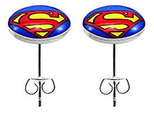BodyTrend Ohrstecker Superman Edelstahl