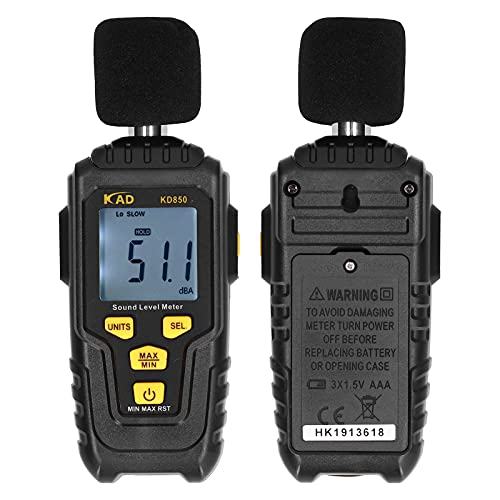 Dezibel-Messgerät, energiesparend, langlebiges 31,5 Hz bis 8 kHz-Umweltmessgerät für den Außenbereich für die Umwelt(KD850)