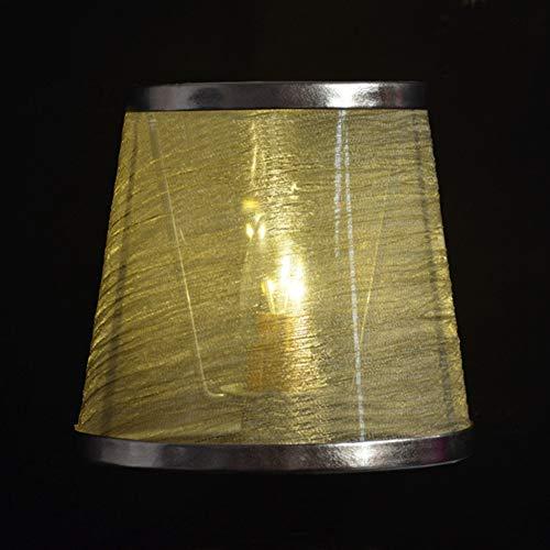 Pantalla de lámpara de tela pura hecha a mano exquisita para luz de cabecera (línea dorada Phnom Penh)