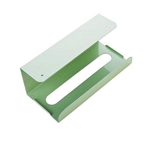 Durable à suspendre papier de soie support étui de rangement de fer Cadre de cuisine Home Box vert clair