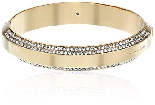 Michael Kors Pave Logo Hinged Bangle Bracelet
