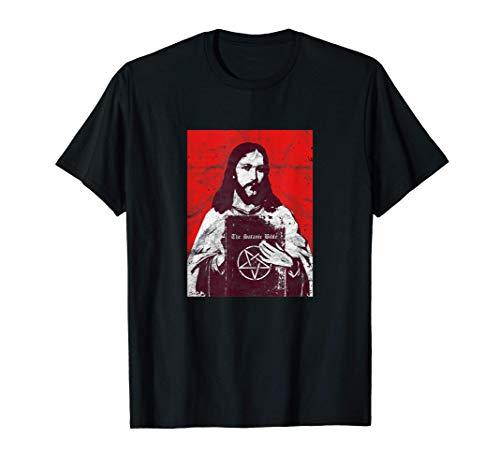 Biblia Satánica Jesus Ateo Death Metal 666 Vintage Jesus Camiseta