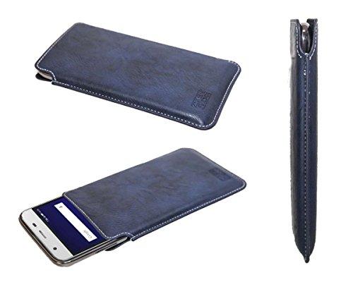 caseroxx Business-Line Etui für Lenovo Z5 Pro GT, Tasche (Business-Line Etui in blau)
