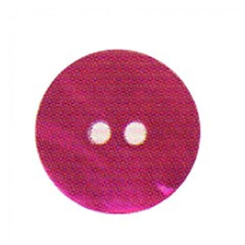 Hemline effet ronde 20 mm Boutons-Fuchsia-Lot de 3