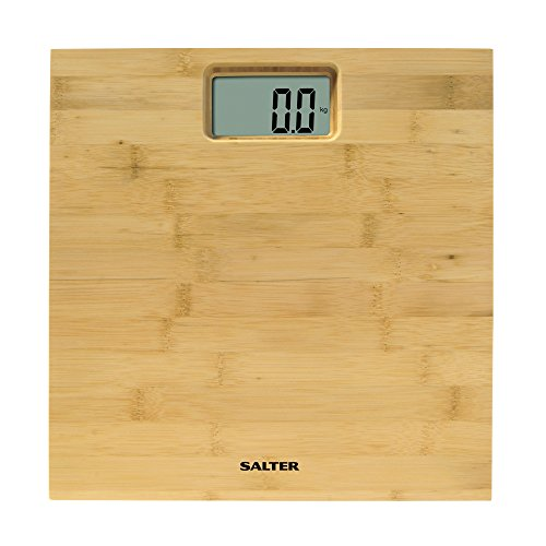 Salter Bamboo - Báscula de baño digital, 150 kg, diseño madera