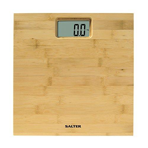 Salter 9086 WD3R Bilancia Elettronica Pesapersona in Bamboo, Display di Facile Lettura, 15 Anni di Garanzia, Capacità 180 kg