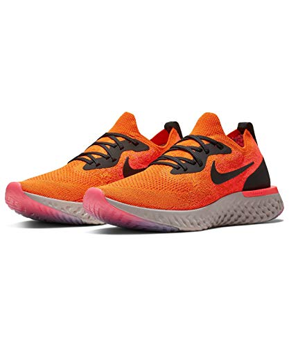 Nike Men's Epic React Flyknit Competition Running Shoes, Multicolour (Copper Flash/Black/Flash Crimson 800), 7.5 UK