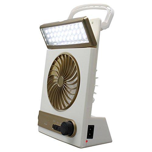 Danigrefinb Outdoor-Lichter, tragbar, wiederaufladbar, Solar-Notfall-Zeltventilator, Taschenlampe, goldfarben, Einheitsgröße