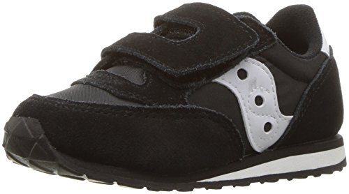 Saucony Boy's Baby Jazz Hook & Loop Sneaker, black/white,...