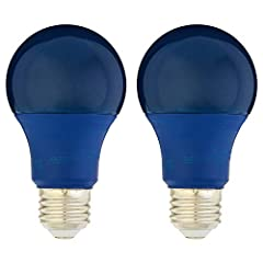 With a life of 10,000 hours, the bulb will last over 9 years (based on 3 hours of use each day) 60W equivalent bulb is ideal for creating a fun and festive atmosphere in any setting This blue colored A19 LED light bulb provides a fun, enjoyable atmos...
