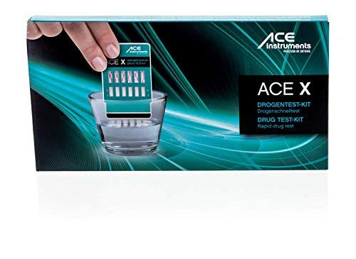 ACE Drogentester 4 in 1-2 x Schnelltest für Privatpersonen zur Bestimmung von 6 versch. Drogenarten…