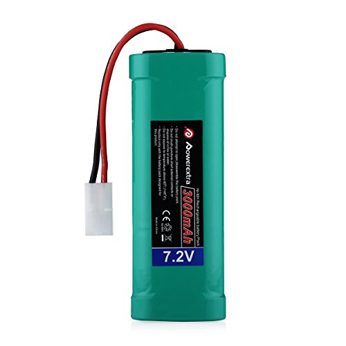 Powerextra 7.2V 3000mAh High Power Rechargeable NiMH Battery Pack Low-self Discharge with KET Connectors compatiable RC Cars, RC Truck, RC Airplane, RC Helicopter, RC Boat