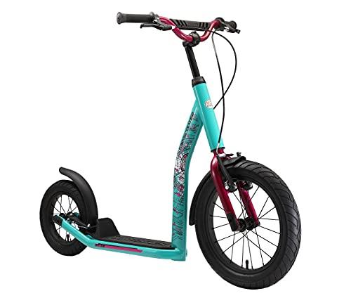 STAR SCOOTER Patinete Infantil 2 Ruedas a Partir de 8 años | Kick Scooter 16' neumáticos, Ajustable en Altura para niñas y niños | Verde