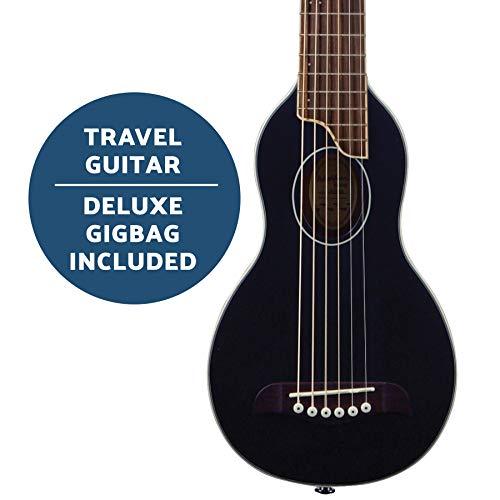 Washburn Rover 6 String Acoustic Guitar, Right, Black (RO10SBK-A)