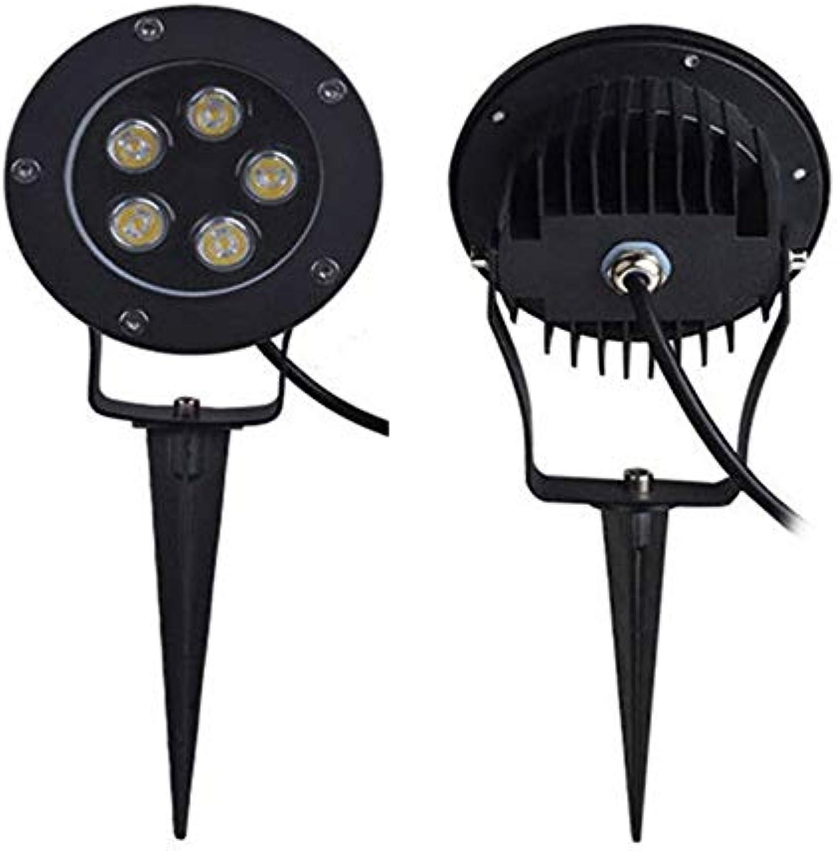 HCHD Rasenlicht im Freien IP65 Bodenlicht 3W   5W   6W   9W   12W   18W AC220V Wasserdichtes Spotlicht für den Garten Sitzende Auenbeleuchtung (Farbe   Grün-6W 220V)