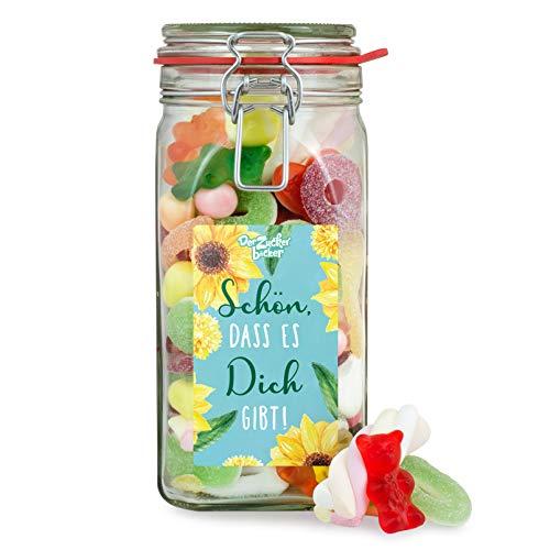 Schön, dass es Dich gibt - großes Süßigkeiten-Glas als schöne Geschenkidee für die Lieblingsmenschen